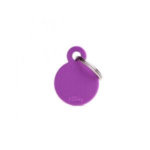 Medaglietta collezione Basic Cerchio Piccolo Viola in Alluminio