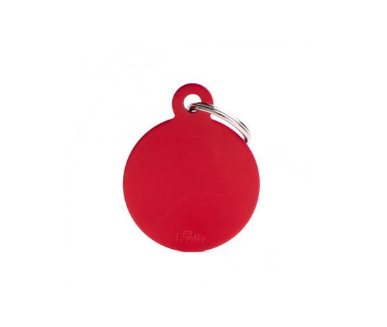 Medaglietta collezione basic cerchio grande rosso in alluminio