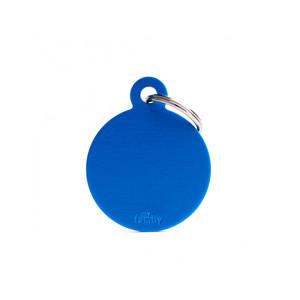 Medaglietta collezione Basic Cerchio Grande Blue in Alluminio