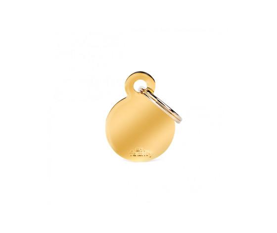 Medaglietta collezione basic cerchio piccolo in ottone dorato