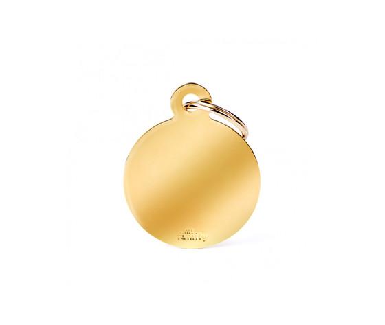 Medaglietta collezione basic cerchio grande in ottone dorato