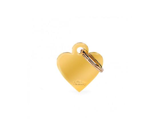 Medaglietta collezione basic cuore piccolo in ottone dorato