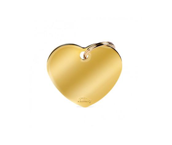 Medaglietta collezione basic cuore grande in ottone dorato