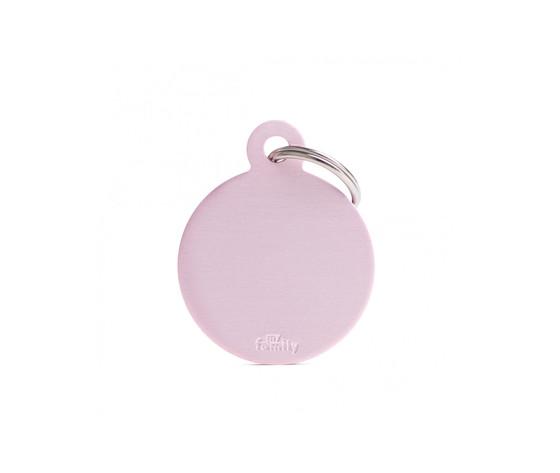 Medaglietta collezione basic cerchio grande rosa in alluminio