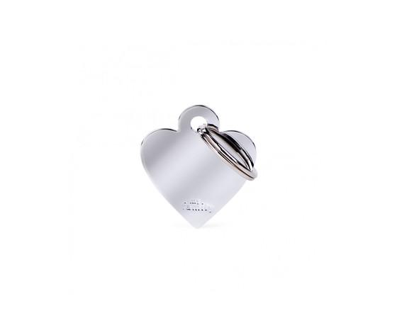 Medaglietta collezione basic cuore piccolo in ottone cromato
