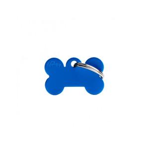 Medaglietta collezione Basic Osso Piccolo Blu in Alluminio
