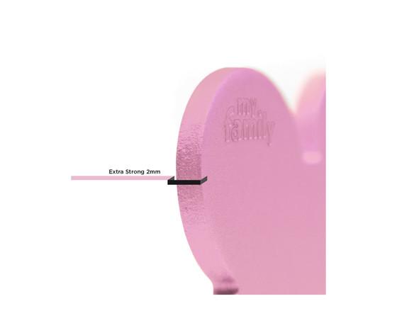 Medaglietta basic cuore grande rosa in alluminio %281%29