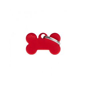 Medaglietta collezione Basic Osso Piccolo rosso in Alluminio