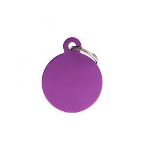 Medaglietta collezione Basic Cerchio Grande Viola in Alluminio