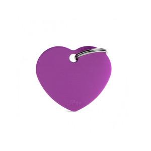 Medaglietta collezione Basic Cuore Grande Viola in Alluminio