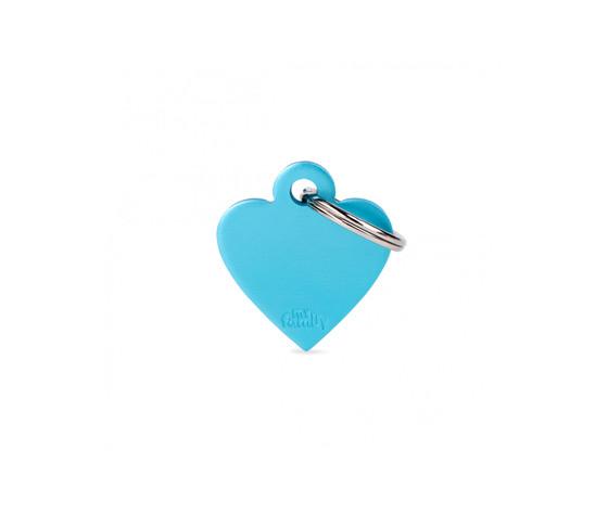 Medaglietta collezione basic cuore piccolo azzurro in alluminio