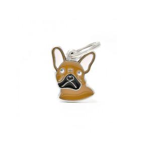 Medaglietta Cane Bulldog Francese Marrone