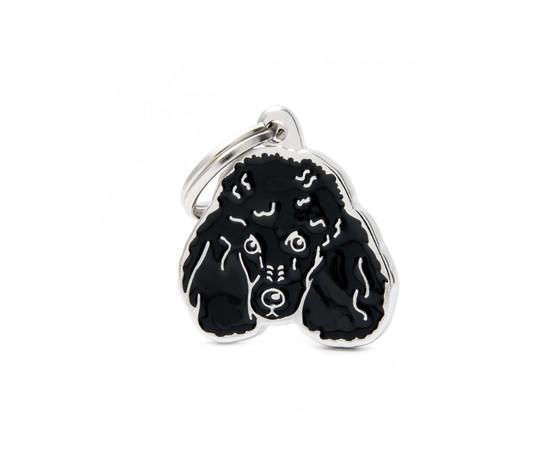 Medaglietta cane barboncino nero nuovo