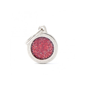 Medaglietta Shine Cerchio Piccolo Glitter Rosso