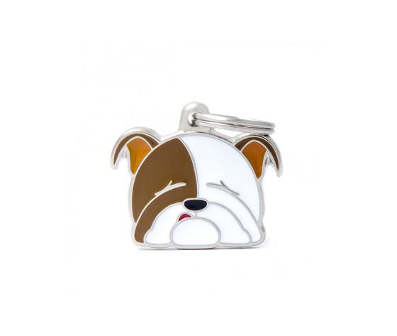 Medaglietta cane bulldog inglese