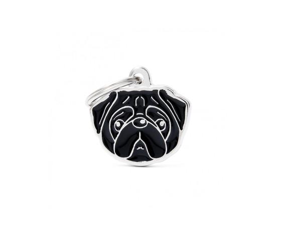 Medaglietta cane carlino nero nuovo