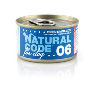 NATURAL CODE UMIDO CANE NATURALE 06 TONNO E MERLUZZO 90 GR