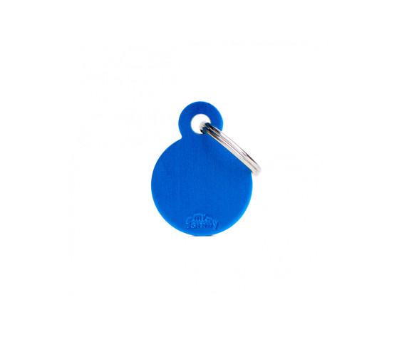 Medaglietta collezioni basic cerchio piccolo blu in alluminio