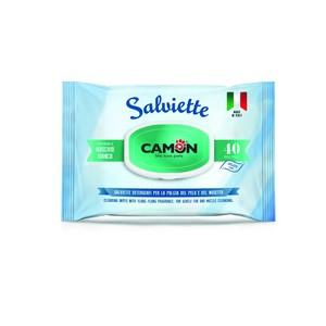CAMON SALVIETTE DETERGENTI CANE E GATTO PROFUMATE MUSCHIO BIANCO 40 PZ