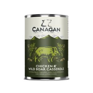 CANAGAN UMIDO CANE CHICKEN & WILD BOAR CASSEROLE / CASSERUOLA DI POLLO E CINGHIALE 400G