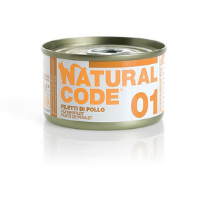 NATURAL CODE UMIDO NATURALE 01 FILETTI DI POLLO 85 GR