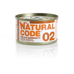 NATURAL CODE UMIDO NATURALE 02 POLLO E GAMBERETTI 85 GR