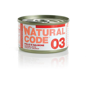 NATURAL CODE UMIDO NATURALE 03 POLLO E SALMONE 85 GR