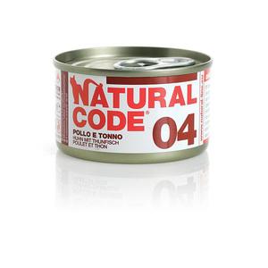 NATURAL CODE UMIDO NATURALE 04 POLLO E TONNO 85 GR