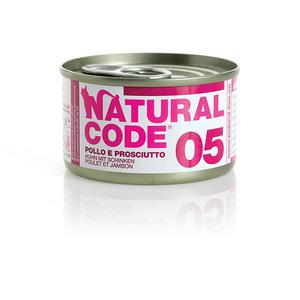NATURAL CODE UMIDO NATURALE 05 POLLO E PROSCIUTTO 85 GR