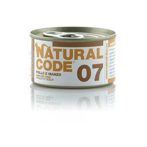 NATURAL CODE UMIDO NATURALE 07 POLLO E MANZO 85 GR
