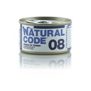 NATURAL CODE UMIDO NATURALE 08 TRANCI DI TONNO 85 GR