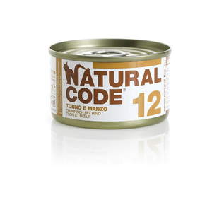 NATURAL CODE UMIDO NATURALE 12 TONNO E MANZO 85 GR
