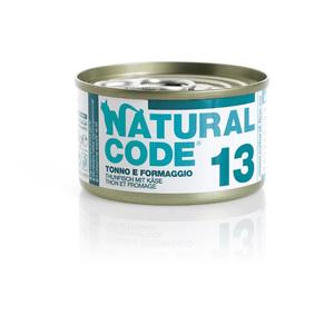 NATURAL CODE UMIDO NATURALE 13 TONNO E FORMAGGIO 85 GR