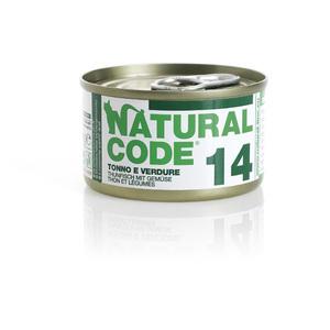 NATURAL CODE UMIDO NATURALE 14 TONNO E VERDURE 85 GR