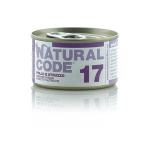 NATURAL CODE UMIDO NATURALE 17 POLLO E STRUZZO 85 GR