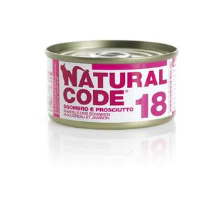 NATURAL CODE UMIDO NATURALE 18 SGOMBRO E PROSCIUTTO 85 GR
