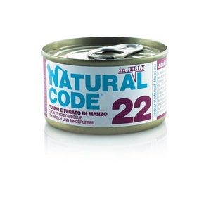 NATURAL CODE UMIDO NATURALE 22 TONNO E FEGATO DI MANZO 85 GR