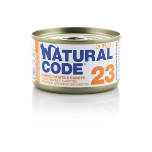 NATURAL CODE UMIDO NATURALE 23 TONNO, PATATE E CAROTE 85 GR