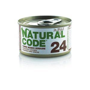 NATURAL CODE UMIDO NATURALE 24 TONNO, MANZO E VERDURE 85 GR