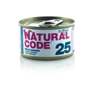 NATURAL CODE UMIDO NATURALE 25 POLLO E SARDINE 85 GR