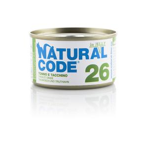 NATURAL CODE UMIDO NATURALE 26 TONNO E TACCHINO 85 GR