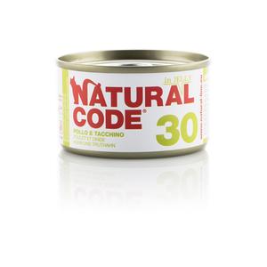 NATURAL CODE UMIDO NATURALE 30 POLLO E TACCHINO 85 GR