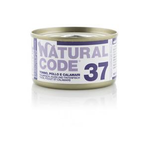 NATURAL CODE UMIDO NATURALE 37 TONNO, POLLO E CALAMARI 85 GR