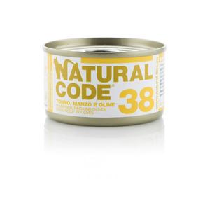 NATURAL CODE UMIDO NATURALE 38 TONNO, MANZO E OLIVE 85 GR