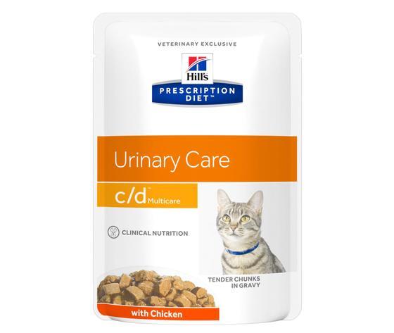 Pd feline prescription diet cd multicare tender chunks gravy with chicken pouch productshot zoom
