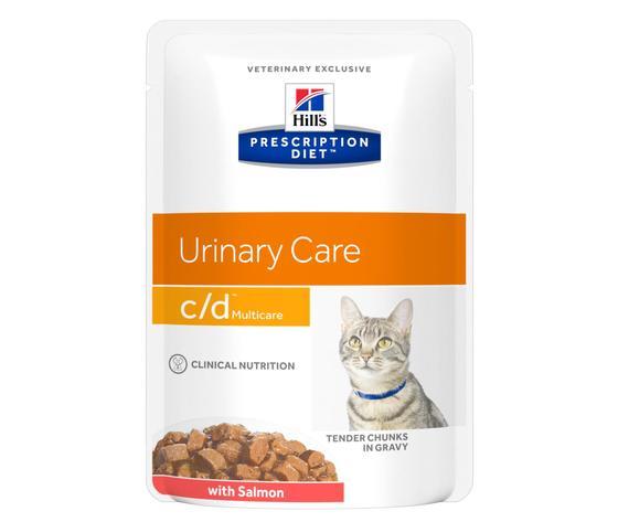 Pd feline prescription diet cd multicare tender chunks gravy with salmon pouch productshot zoom
