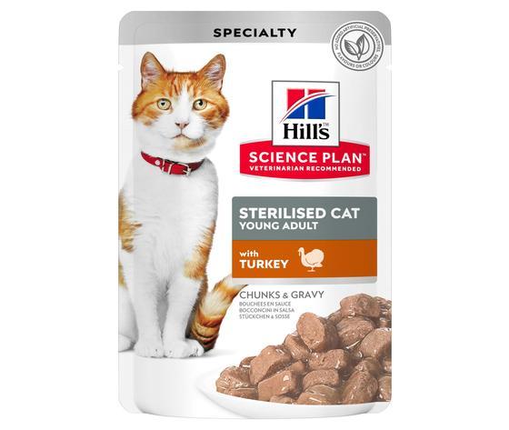 Sp feline science plan sterilised cat young adult turkey pouch productshot zoom