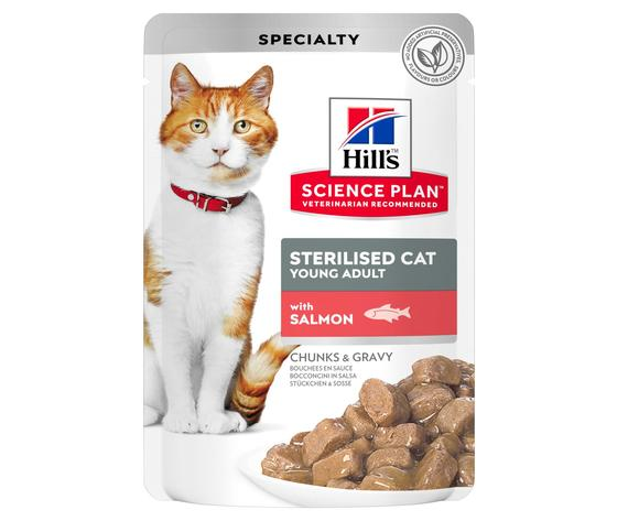 Sp feline science plan sterilised cat young adult with salmon pouch productshot zoom