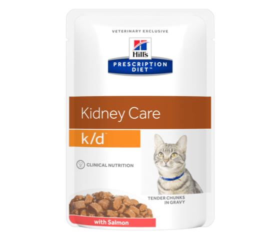Pd feline prescription diet kd with salmon pouch productshot 500