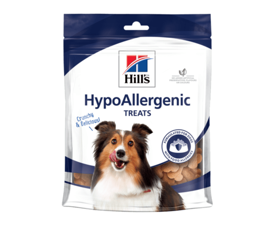 Hills canine hypoallergenic dog treats productshot 500